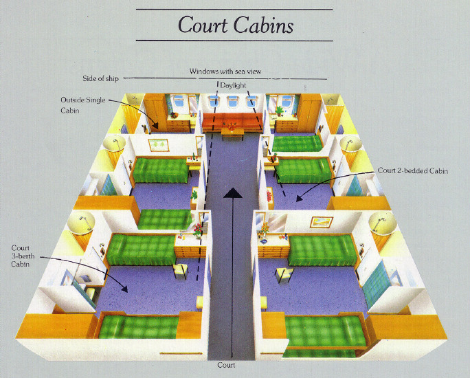 Canberra photo gallery for First class cruise ship cabins