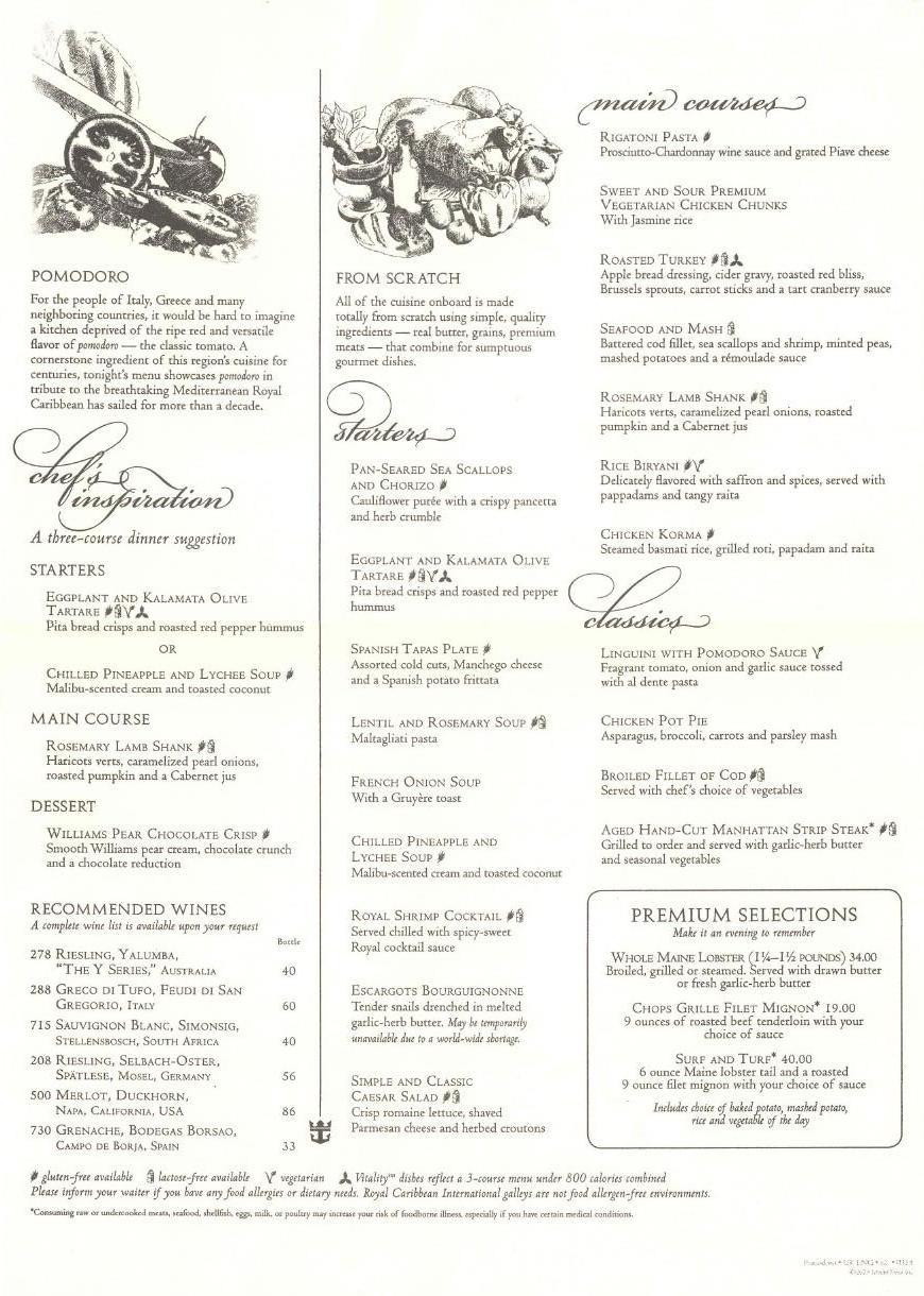 rccl menus